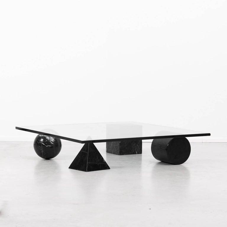 Mid-Century Modern Massimo Vignelli Metafora Coffee Table for Casigliani, Italy, 1979 For Sale