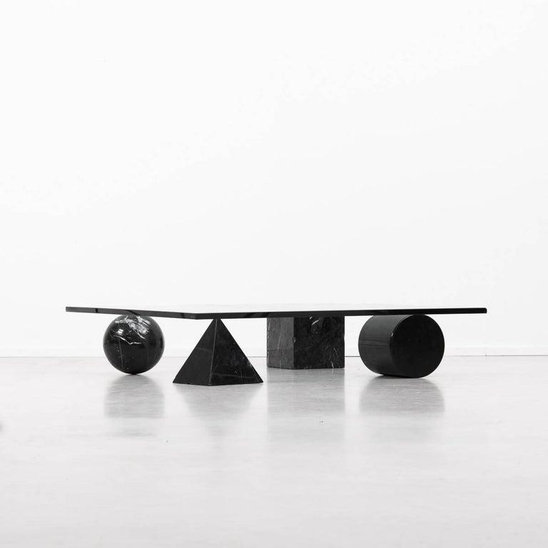 Italian Massimo Vignelli Metafora Coffee Table for Casigliani, Italy, 1979 For Sale