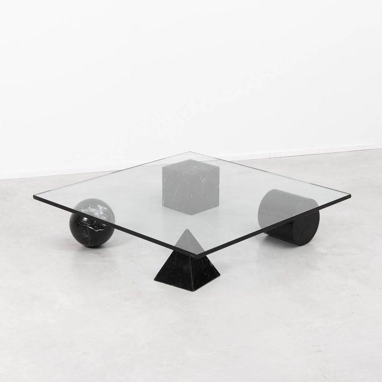 Massimo Vignelli Metafora Coffee Table for Casigliani, Italy, 1979 In Excellent Condition For Sale In London, GB