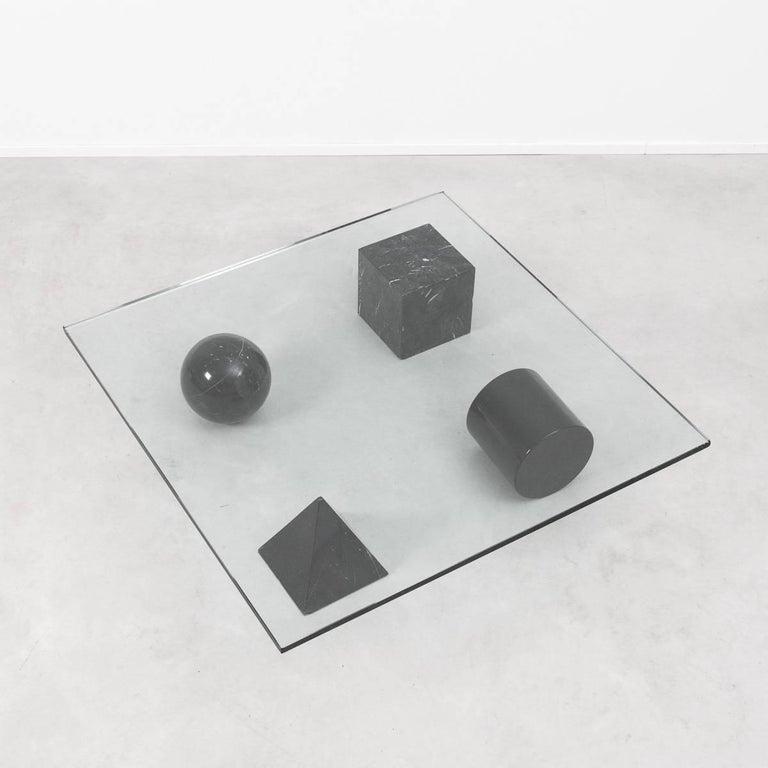 Late 20th Century Massimo Vignelli Metafora Coffee Table for Casigliani, Italy, 1979 For Sale
