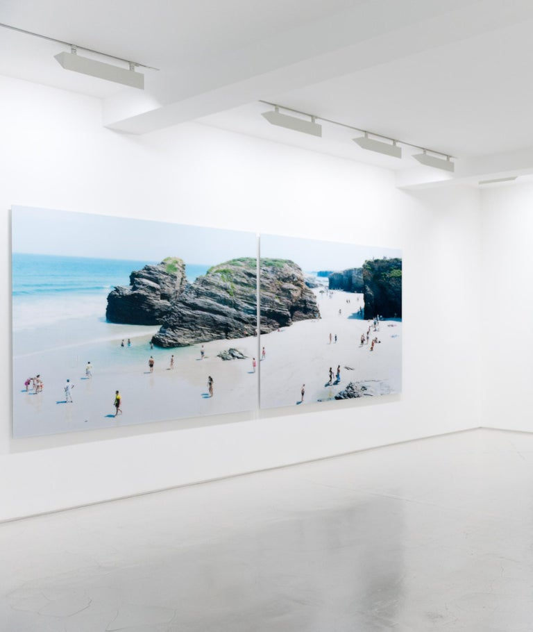 #442 Las Catedrales Diptych - Contemporary Photograph by Massimo Vitali