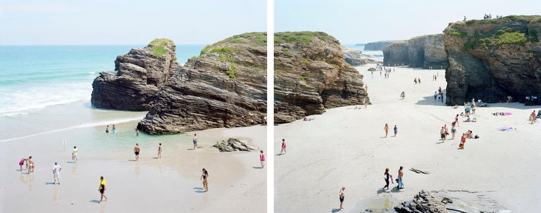 #442 Las Catedrales Diptych - Photograph by Massimo Vitali