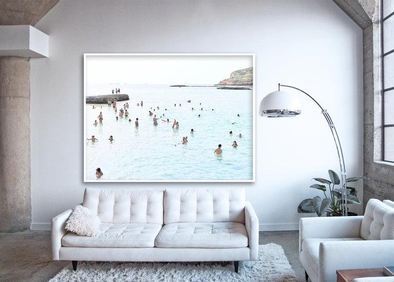 Cala Conta Point - large scale Mediterranean beach scene (artist framed) - Photograph by Massimo Vitali