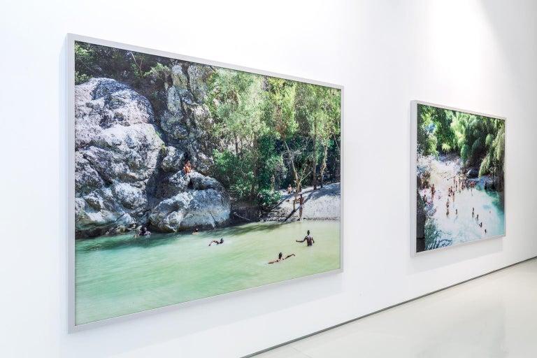 Cala Conta Point - large scale Mediterranean beach scene (artist framed) For Sale 1