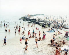 Coney Es - large format photograph by iconic beach photographer Massimo Vitali