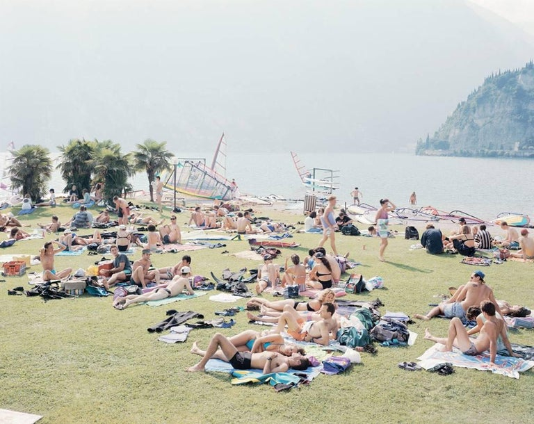 """Massimo Vitali Color Photograph - Garda Look from """"A Portfolio of Landscapes With Figures"""""""