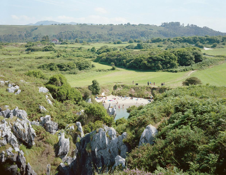 Gulpiyuri - large scale landscape photograph by Massimo Vitali (artist framed)