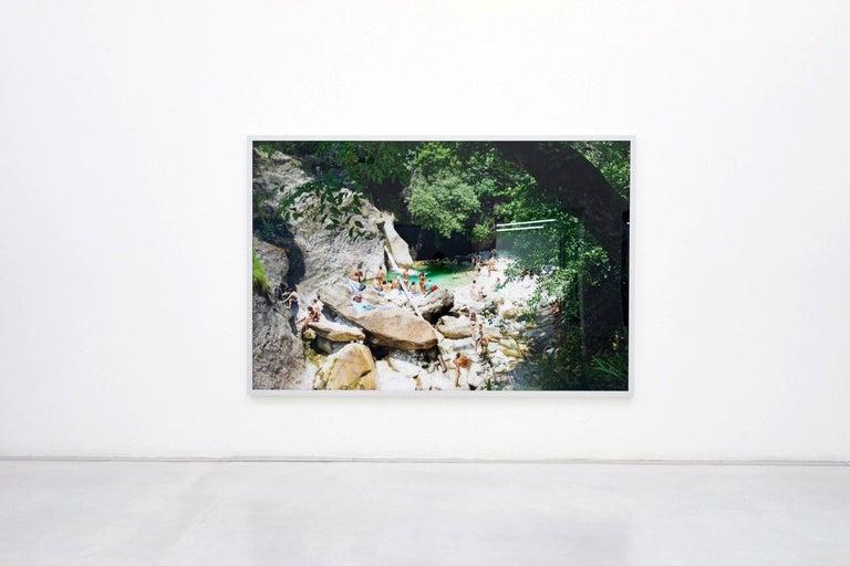 Malbacco Desiata - large format photograph of iconic Italian summer moment - Contemporary Photograph by Massimo Vitali
