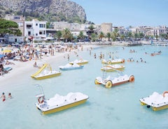 Massimo Vitali Mondello Paddle Boat Medium Size Photograph Beach Scene