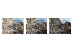 Massimo Vitali Triptych Nervi, 2018 Medium Size Photographs