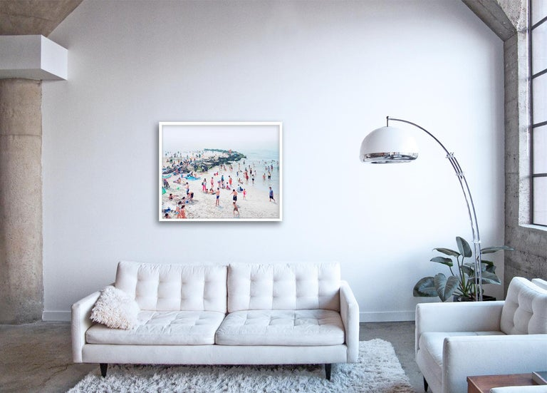 Meloria - large scale photograph of Mediterranean beach scene (artist framed) - Photograph by Massimo Vitali