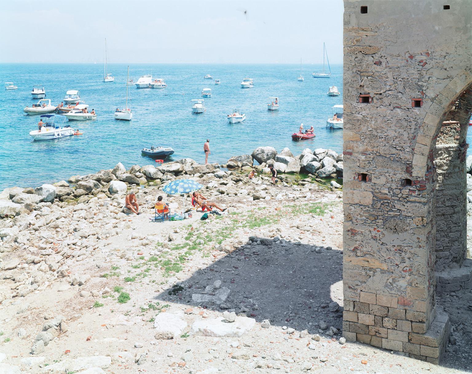 Meloria - large scale photograph of Mediterranean beach scene (artist framed)