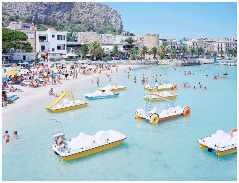 Massimo Vitali Landscape Photograph - Mondello Paddle Boats