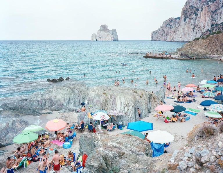 Massimo Vitali Color Photograph - Pan di Zucchero - large scale photo of Mediterranean beach scene (framed)