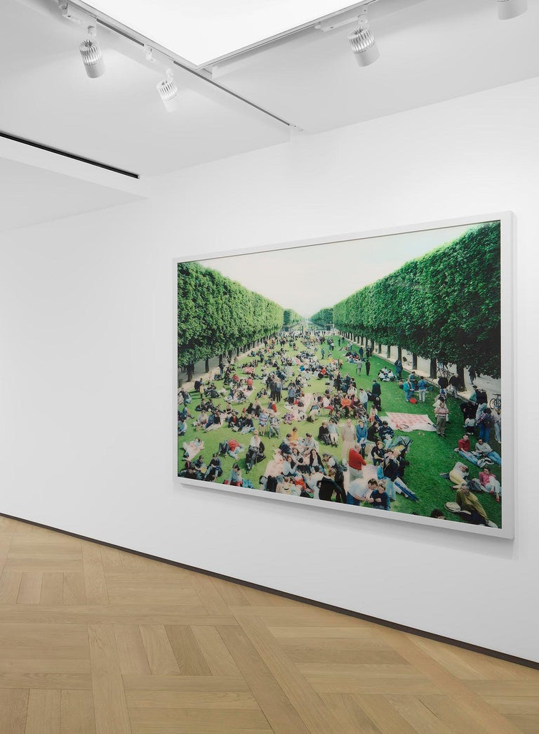 Picnic Allee  - Contemporary Photograph by Massimo Vitali