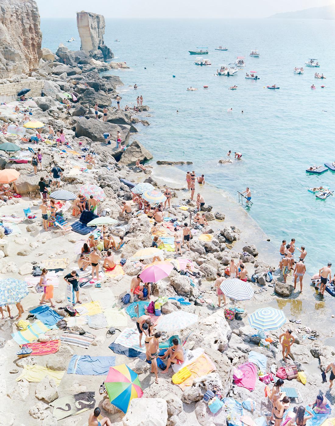 Porto Miggiano - large scale photograph of Mediterranean beach (artist framed)