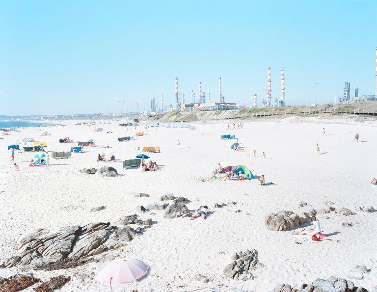 """Massimo Vitali Color Photograph - Praia do Aterro Galp Matosinhos (framed) 73.1"""" x 92.2"""""""