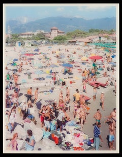 Ragno d'oro, plexiglass Italy beach scene....diptych