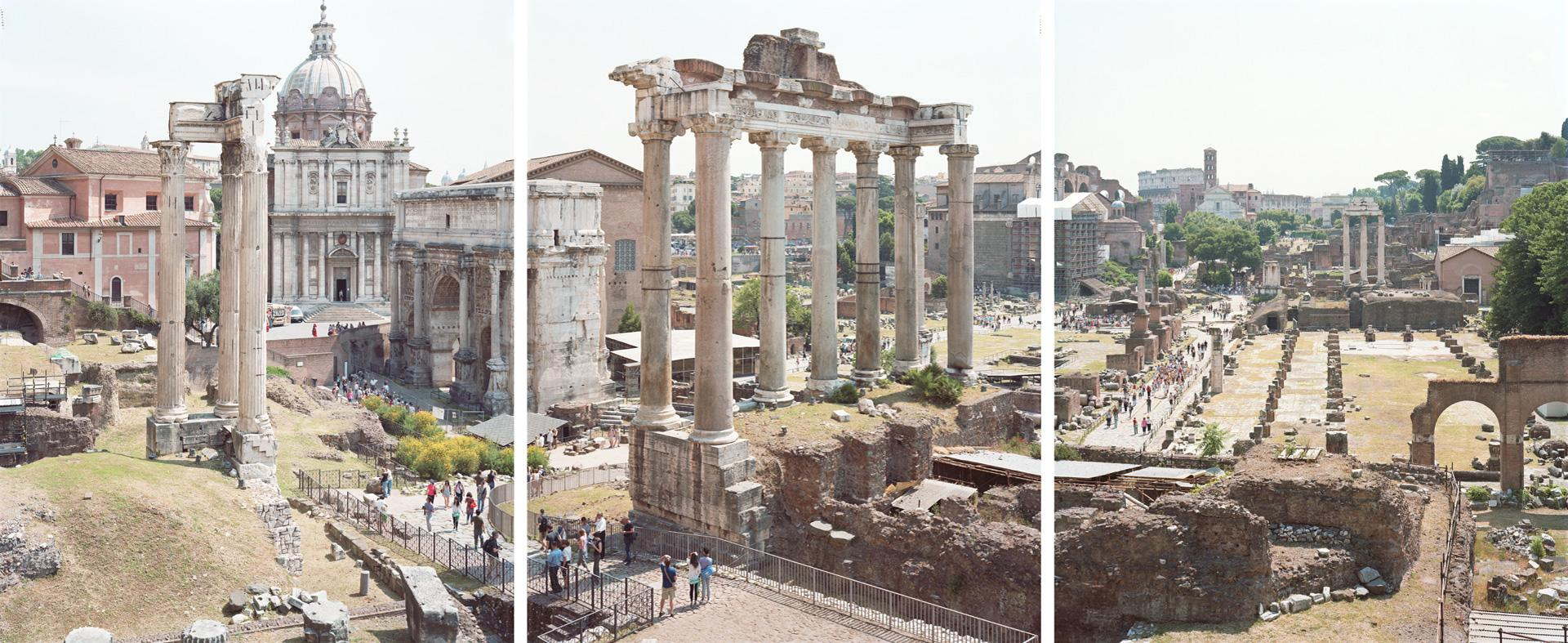Trittico Forum (2011) - large format triptych photograph of iconic Roman site