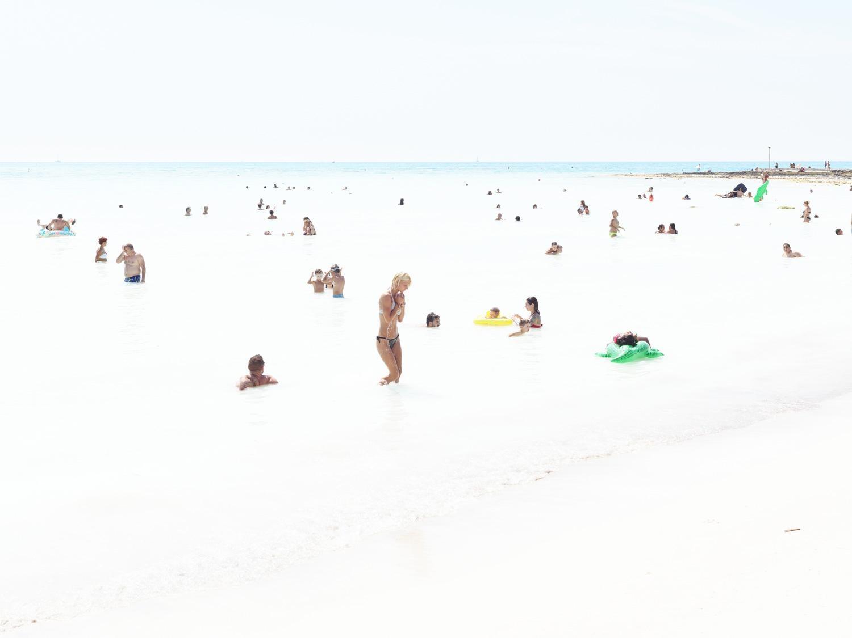 Rosignano Milk - large scale Mediterranean beach scene in Italy (artist framed)