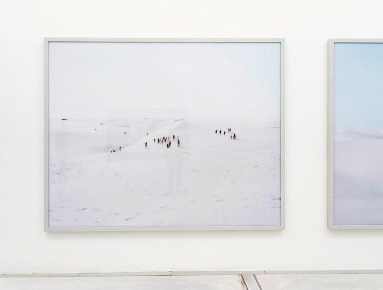Santa Maria al Bagno diptych - large scale Mediterranean beach scene (framed) For Sale 1