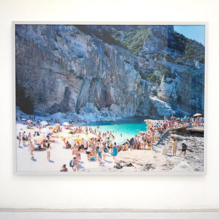 Santa Maria al Bagno diptych - large scale Mediterranean beach scene (framed) For Sale 2