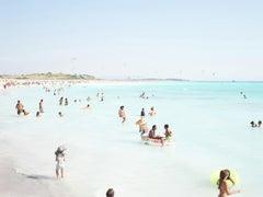 Rosignano Llama - large scale Mediterranean beach scene in Italy (artist framed)