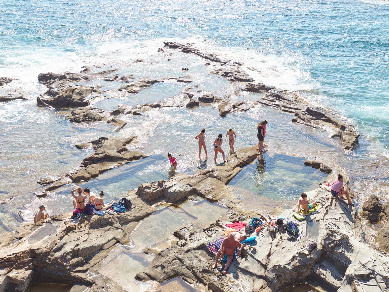 Vaschette  - large scale photograph of Mediterranean beach scene (artist framed)