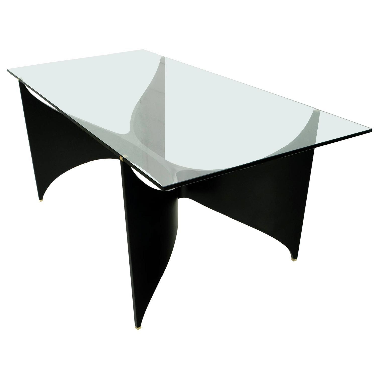 Massironi Manfredo Mid-Century Modern Italian Lacquered Dining Table, 1970s