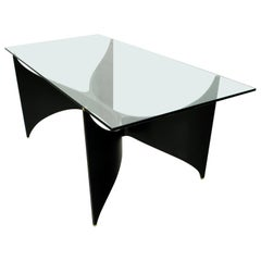 Massironi Manfredo Mid-Century Modern Italian Lacquered Dining Table, 1970s