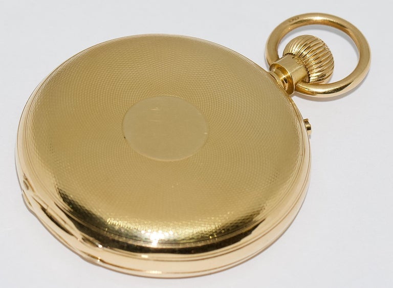 Massive 18 Karat Gold Men's Hunter Pocket Watch by Allamand Brothers, London For Sale 6