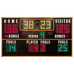 Massive 1970s Basketball Scoreboard