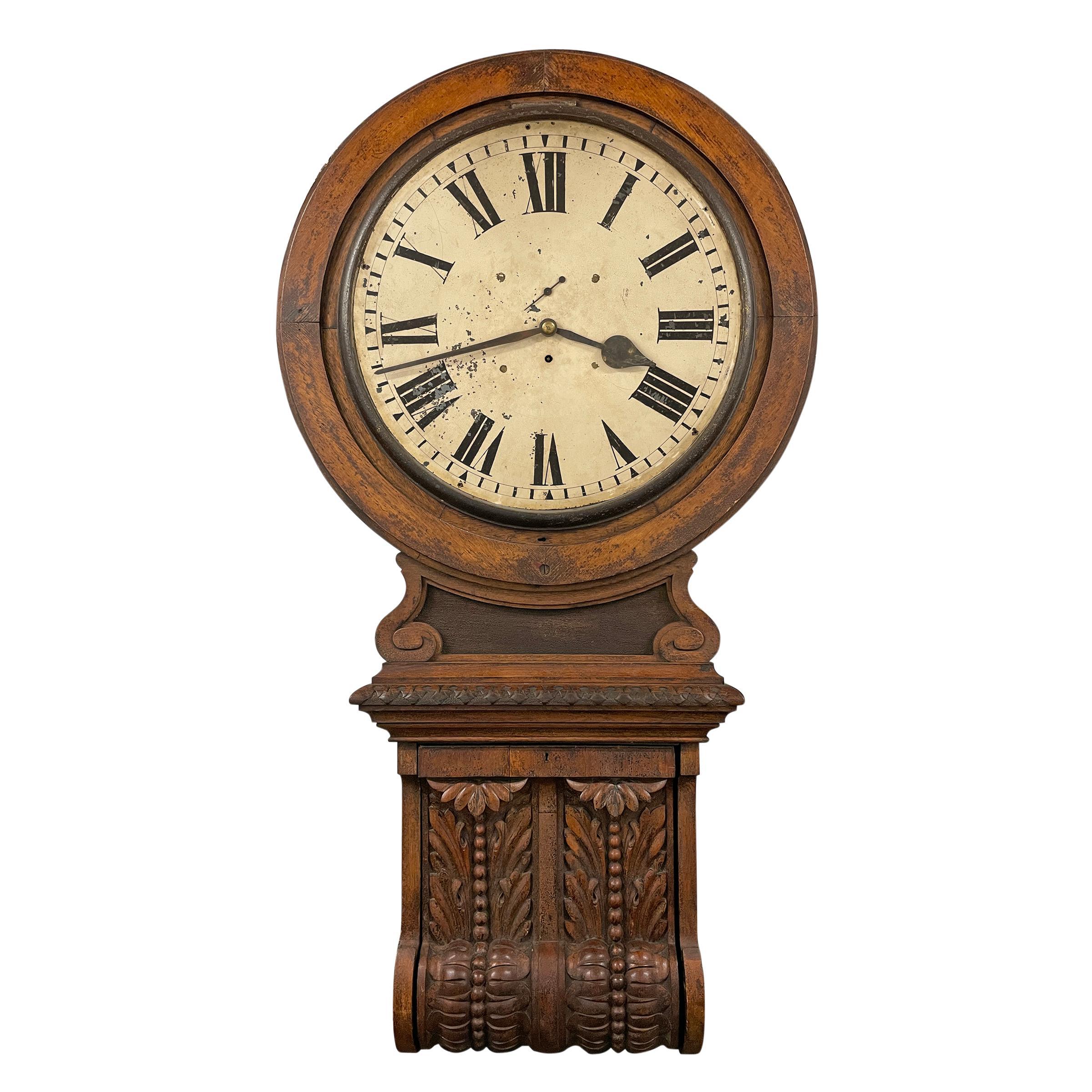 Massive 19th Century English Railroad Station Clock