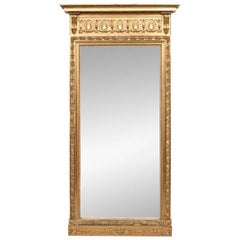 Massive 19th Century Neoclassical Carved and Gilt Mirror