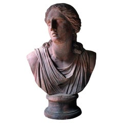 Massive 19thc French Terracotta Bust of Niobe
