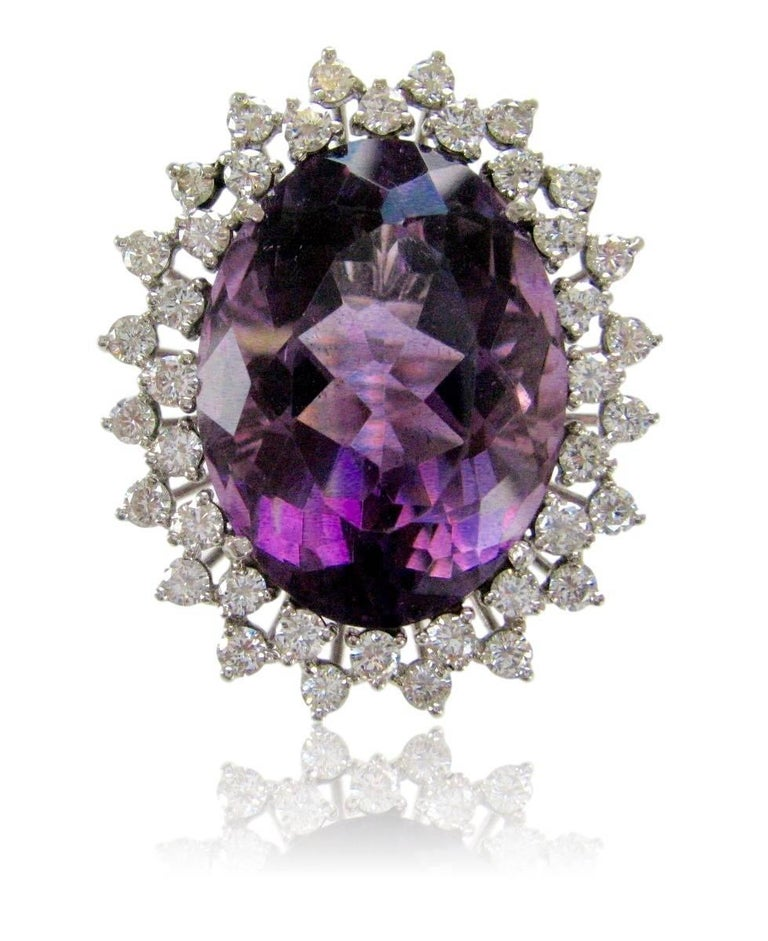 Impressive amethyst cocktail ring. The 1 5/8