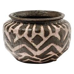 Massive Africanist Art Deco Stoneware Ceramic Vase by Joseph Massé Jean Carriès