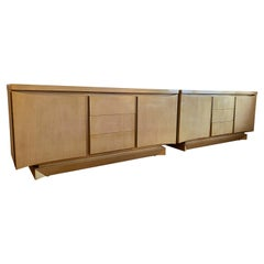 Massive American of Martinsville Streamline Moderne Triple Dressers