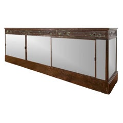 Massive and Notable Industrial Era Antique Shop Counter/ Display Case
