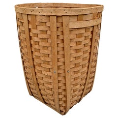 Massive and Tall American Oak Splint Basket