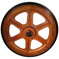 Massive Antique Handmade Foundry Gear Wheel