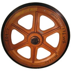 Massive Antique Handmade Foundry Wheel