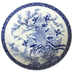 A Massive Antique Japanese Arita Porcelain Plate by Kajiwara Kiln
