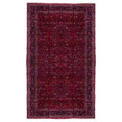 Massive Antique Mohajeran Sarouk Mansion Carpet, Red Allover Filed, circa 1920s