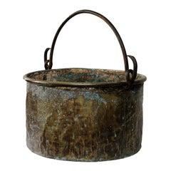 Massive Brass French Louis XIV Period Cauldron, circa 1720