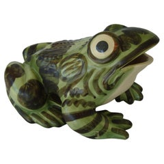 Massive Brush McCoy Hand-Painted Ceramic Frog Sculpture