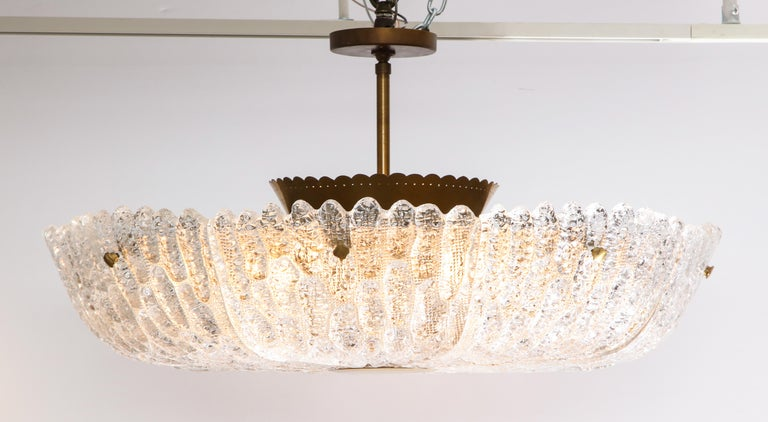 Massive Carl Fagerlund Pendant Fixture for Orrefors  For Sale 5