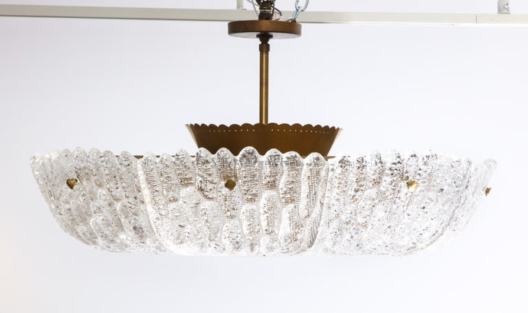 Swedish Massive Carl Fagerlund Pendant Fixture for Orrefors  For Sale
