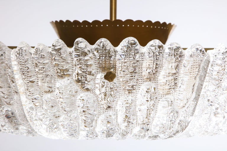 Mid-20th Century Massive Carl Fagerlund Pendant Fixture for Orrefors  For Sale