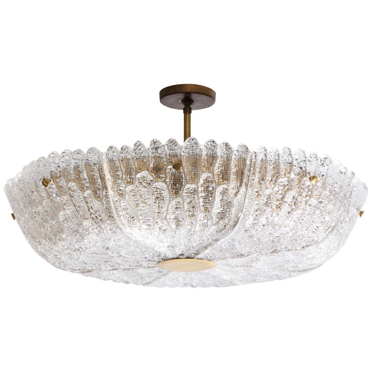 Massive Carl Fagerlund Pendant Fixture for Orrefors  For Sale